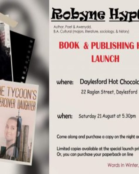 Book launch- Robyne HypGothic @ The Hot Choc. Co.